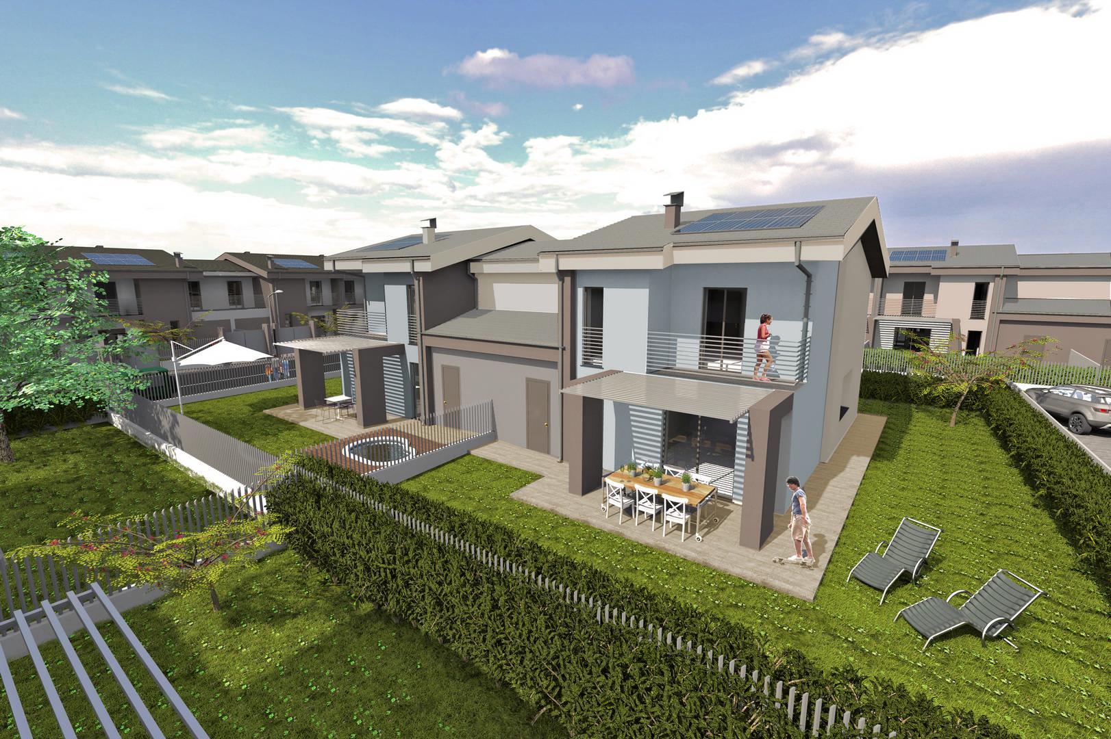 Ville e bifamiliari di prossima realizzazione antica for Ville bifamiliari moderne