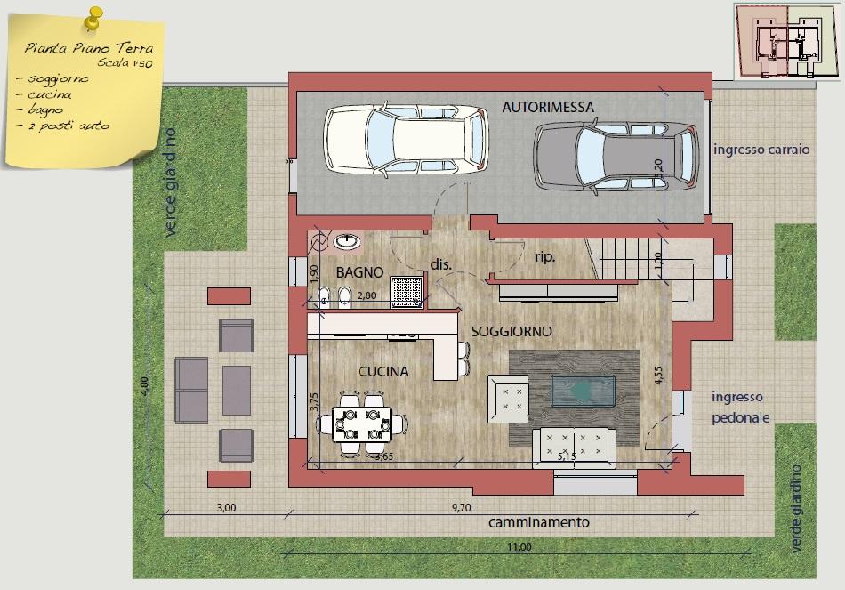 Ville e bifamiliari di prossima realizzazione antica for 2 piani letto 2 bagni
