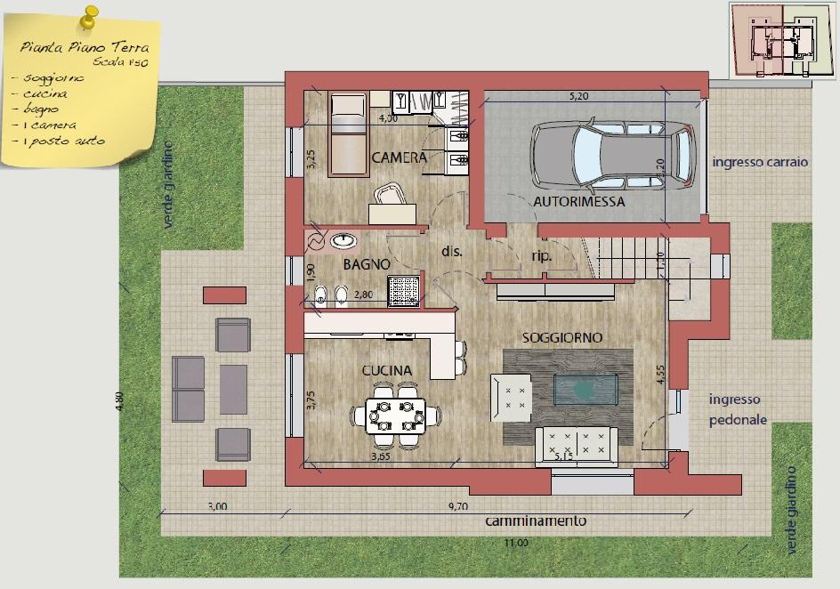 Ville e bifamiliari di prossima realizzazione antica for Piani di casa con foyer