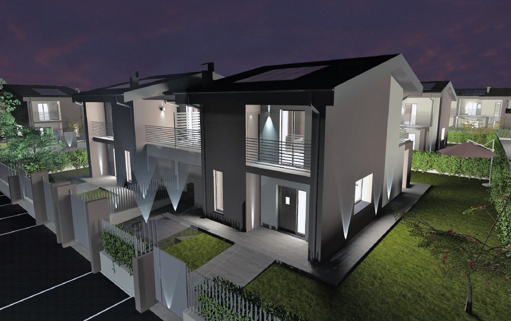 Ville e bifamiliari di prossima realizzazione antica for Villa moderna progetto